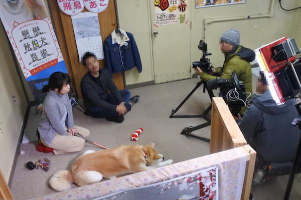 台湾のテレビ局がロケに来ていました。 東北6県を紹介するのだそうです。