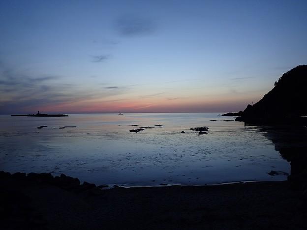 写真: 29 GW 山形 由良海岸の夕焼け 3