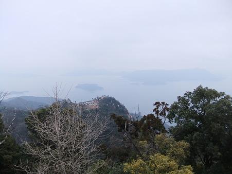 弥山山頂からの眺望
