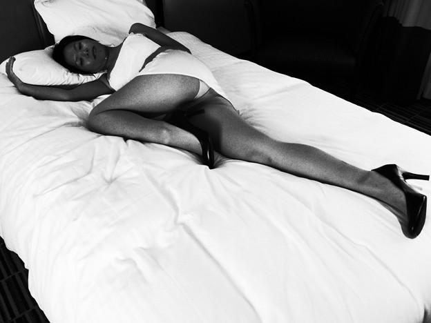 ベッドにて
