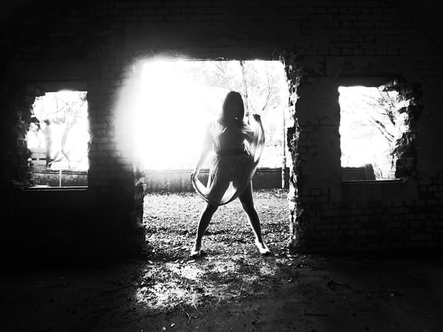 写真: 透過光