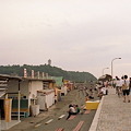 写真: 江ノ島夕景