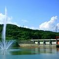 写真: 十王ダム 噴水