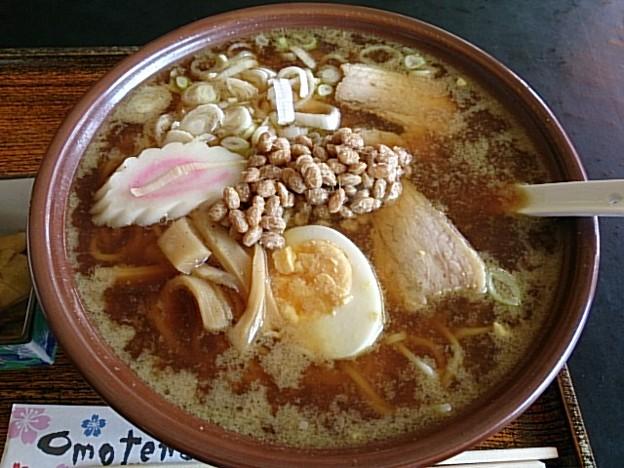 写真: 納豆カレーラーメン