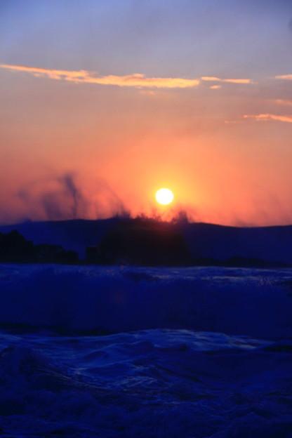 写真: 初日の出 高萩市高浜海岸