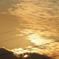夕陽と輝く夕焼雲
