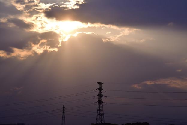 写真: 雲われて