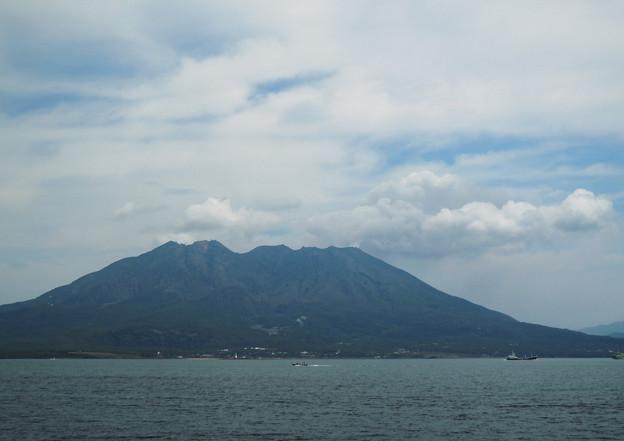 台風一過の桜島