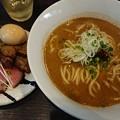 豚骨魚介味玉ラーメン@麺処 ほん田 niji